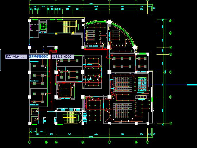 办公室装修电气施工图(cad图纸)下载