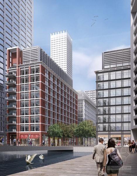 赫尔佐格&德梅隆设计伦敦东部圆柱形摩天大楼