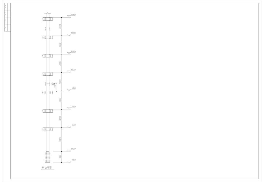 钢结构设计培训班姜守灿学员-多层框架-作品